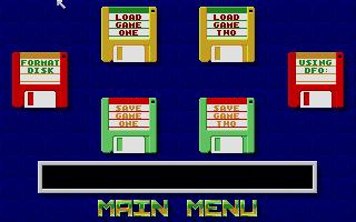 Premier Manager Save and Load Menu
